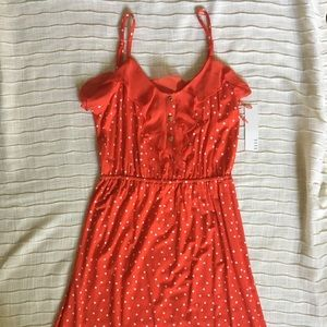Elle Sail Away NWT Red Polka dot Dress Small